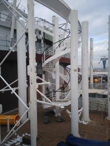 Escalier toboggans A34 ©CMR2015