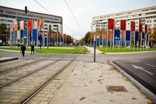 Relocalisation de l'œuvre de Ludger Gerdes place Ernest Granier à Montpellier - ©CMR 2012